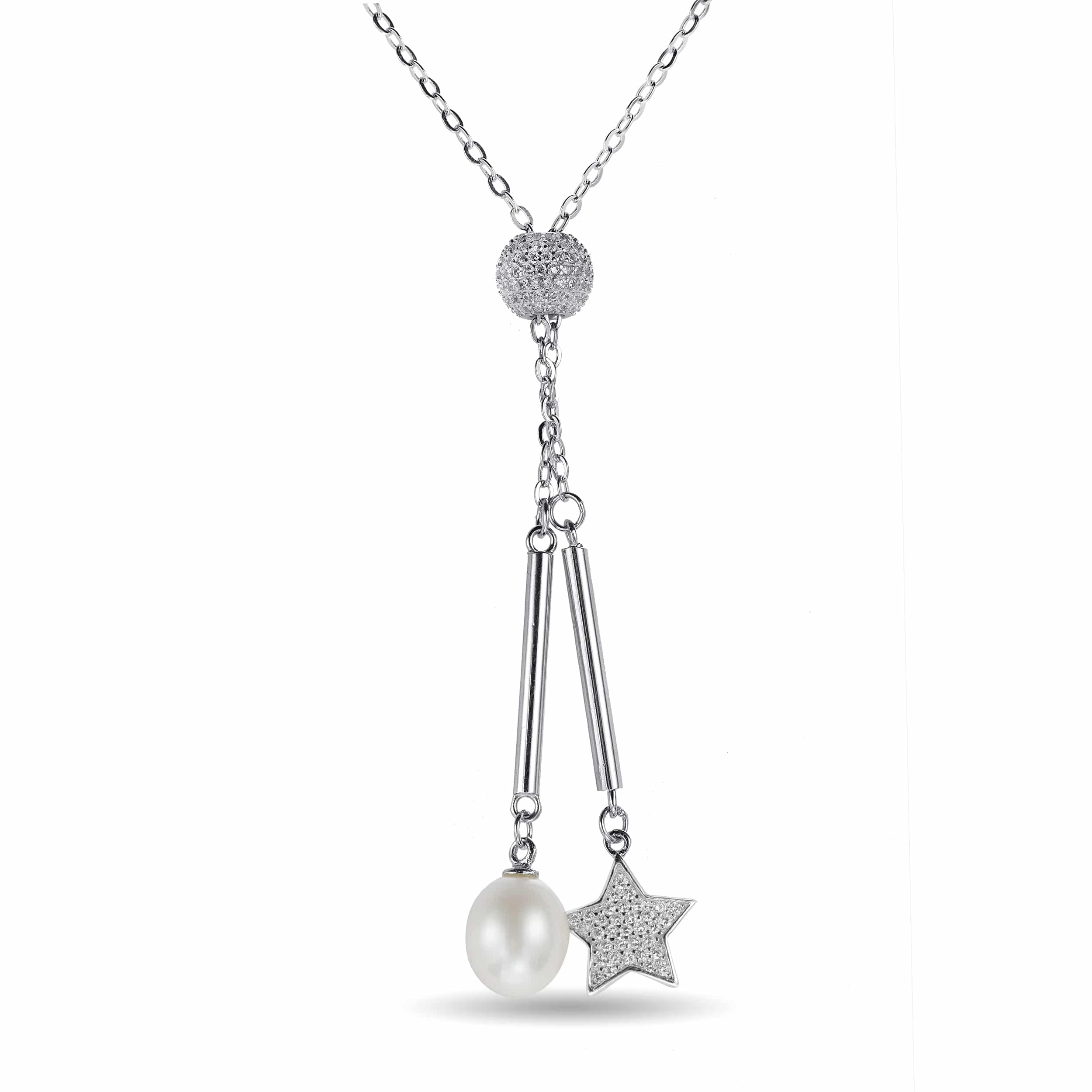 bow zirconia pendant silver cubic simply jewellery necklaces necklace zoom sterling